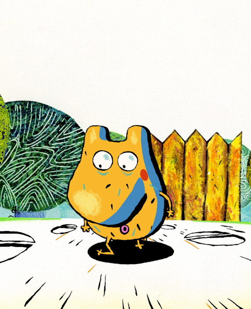 Patate et le jardin potager