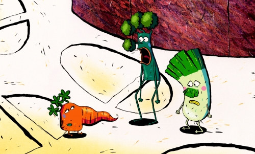 Spud and the Vegetable Garden