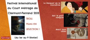 Trois courts métrages sélectionnés à Clermont-Ferrand !