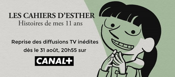 Les Cahiers d'Esther (Saison 2) sur CANAL+