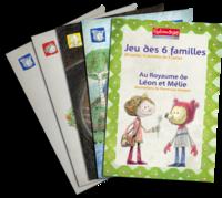"""Jeu des 6 familles """"Léon et Mélie"""""""