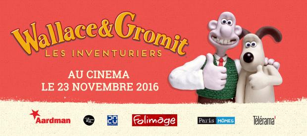 """""""Wallace & Gromit : Les Inventuriers"""" distribué au cinéma par Folimage !"""